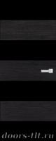 Дверь Экошпон ЭЛИТ Q10  межкомнатная глухая со стеклом триплекс черное, венге