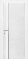 Дверь Экошпон G 7 межкомнатная глухая со стеклом триплекс белое матовое, беленый дуб