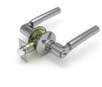 Ручка-защелка 404 BK D KNOB цвет никель с фиксатором для межкомнатной двери