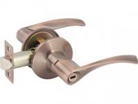 Ручка-защелка 390 BK R KNOB цвет медь с фиксатором для межкомнатной двери