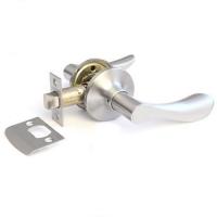 Ручка-защелка 320 PS D KNOB цвет никель без фиксатора для межкомнатной двери