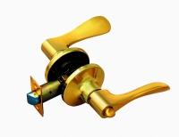 Ручка-защелка 320BK C KNOB цвет золото с фиксатором для межкомнатной двери