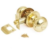 Ручка-шарик  цвет золото без фиксатора для межкомнатной двери