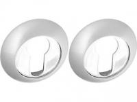 Накладки на цилиндр POL-KH SN/CP цвет матовый никель для межкомнатной двери