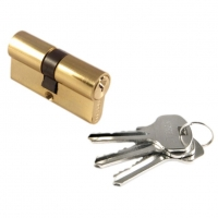 Цилиндр СК 6060 F цвет золото  ключ/ключ для межкомнатной двери