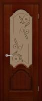 Дверь Рубин шпонированная межкомнатная со стеклом, сапель