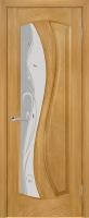 Дверь ИзумрудII шпонированная межкомнатная со стеклом, ясень золотистый