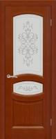 Дверь Топаз шпонированная межкомнатная со стеклом, анегри темный