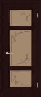 Дверь Кристалл шпонированная межкомнатная со стеклом, венге