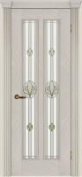 Дверь Крит II шпонированная межкомнатная со стеклом, ясень белый