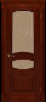 Дверь Топаз II шпонированная межкомнатная со стеклом, сапель