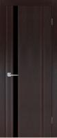 Дверь Меланит I шпонированная межкомнатная со стеклом, мореный дуб