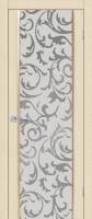 Дверь Меланит шпонированная межкомнатная со стеклом Т19, беленый дуб