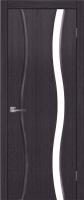 Дверь Оникс I шпонированная межкомнатная со стеклом, черный абрикос