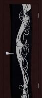 Дверь Циркон шпонированная межкомнатная со стеклом Т22, венге