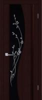 Дверь Родолит шпонированная межкомнатная со стеклом Т21, венге