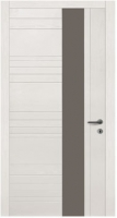 Дверь Модель 033 шпонированная межкомнатная со стеклом, жемчуг