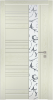 Дверь Модель 033 шпонированная межкомнатная с зеркалом, жемчуг