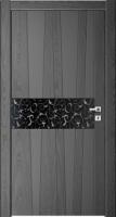 Дверь Модель 037 шпонированная межкомнатная с зеркалом, графит