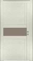 Дверь Модель 043 шпонированная межкомнатная со стеклом, жемчуг