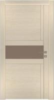 Дверь Модель 043 шпонированная межкомнатная со стеклом, слоновая кость