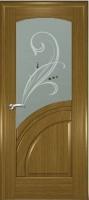 Дверь Спарта шпонированная межкомнатная со стеклом, дуб