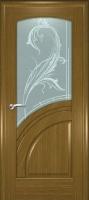 Дверь Спарта шпонированная межкомнатная со стеклом 2, дуб