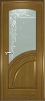 Дверь Спарта шпонированная межкомнатная со стеклом 4, дуб