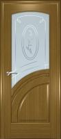 Дверь Спарта шпонированная межкомнатная со стеклом 5, дуб