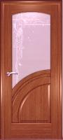 Дверь Спарта шпонированная межкомнатная со стеклом 4, орех