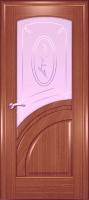 Дверь Спарта шпонированная межкомнатная со стеклом 5, орех