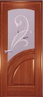 Дверь Спарта шпонированная межкомнатная со стеклом 1, орех