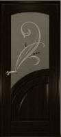 Дверь Спарта шпонированная межкомнатная со стеклом 1, венге