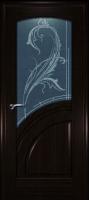 Дверь Спарта шпонированная межкомнатная со стеклом 2, венге