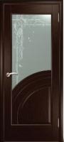 Дверь Спарта шпонированная межкомнатная со стеклом 4, венге