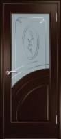Дверь Спарта шпонированная межкомнатная со стеклом 5, венге