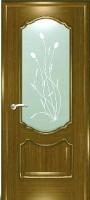 Дверь Маркиза шпонированная межкомнатная со стеклом 3, дуб