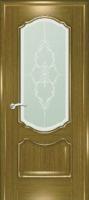 Дверь Маркиза шпонированная межкомнатная со стеклом 4, дуб