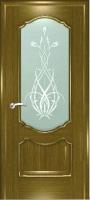 Дверь Маркиза шпонированная межкомнатная со стеклом 5, дуб