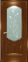 Дверь Маркиза шпонированная межкомнатная со стеклом 3, орех
