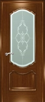 Дверь Маркиза шпонированная межкомнатная со стеклом 4, орех