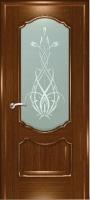 Дверь Маркиза шпонированная межкомнатная со стеклом 5, орех