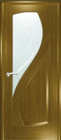 Дверь Новый Стиль шпонированная межкомнатная со стеклом 1, дуб