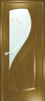 Дверь Новый Стиль шпонированная межкомнатная со стеклом 2, дуб