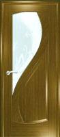 Дверь Новый Стиль шпонированная межкомнатная со стеклом 3, дуб