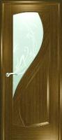 Дверь Новый Стиль шпонированная межкомнатная со стеклом 4, дуб