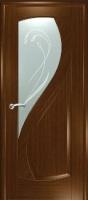 Дверь Новый Стиль шпонированная межкомнатная со стеклом 1, орех