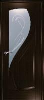 Дверь Новый Стиль шпонированная межкомнатная со стеклом 1, венге