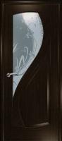 Дверь Новый Стиль шпонированная межкомнатная со стеклом 3, венге