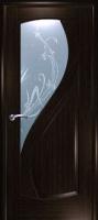 Дверь Новый Стиль шпонированная межкомнатная со стеклом 4, венге